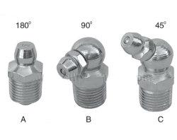 Rosca métrica de lubricación automática engrasador de acero