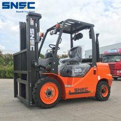 Diesel van 3.5 Ton van China Nieuwe Vorkheftruck voor Verkoop met het ZijInstelmechanisme van de Vork van de Draaier