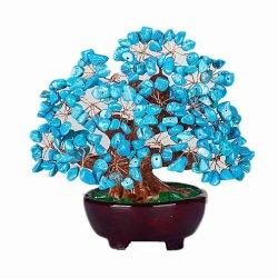 Arborescence Arborescence gemme TURQUOISE Argent Cristal de Quartz Art Decoration