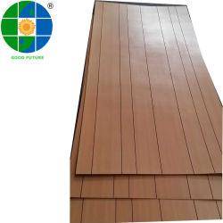 家具の3mm 4mmの5mm溝があるペーパー合板の木製の穀物の平野Coulours