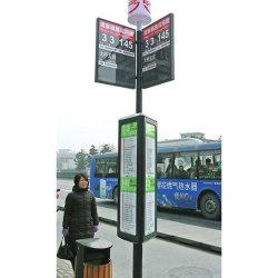 Светодиодный индикатор на экране рекламы в салоне с автобусной остановки и автобусы информации плакат с панели управления