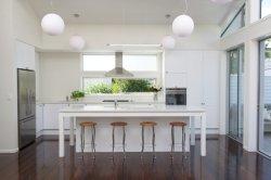 Porta Lacquer Modulare Bianca Con Lastra Ad Alta Lucentezza Con Armadietto Island Kitchen