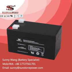 De navulbare 12 Batterij van de Macht van het Lood van de Volt 1.3ah MSDS Verzegelde Zure
