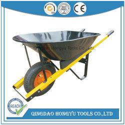 Kruiwagen de van uitstekende kwaliteit van het Wiel Wb5127 met Houten Handvat