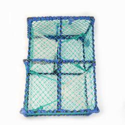 Châssis en acier de couleur verte de la corde tressée casiers à homard pour la pêche s'attaque