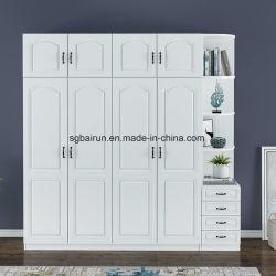Painel de melamina madeira mobiliário quarto MFC roupas armário da gaveta