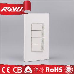 Interruttore elettrico del tasto di potere della parete della famiglia di 2 modi