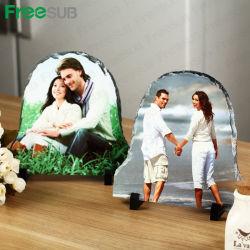 La decoración del hogar de piedra Freesub Sublimación para la boda fotos y fotos de familia SH-02