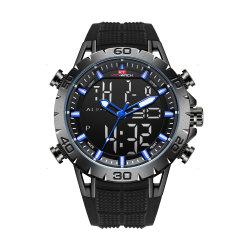 Uhr-Mannmens-Form-Geschenk-Uhr-Digitaluhr-Qualitätsuhr-Quarz Custome Großhandelssport-Uhr-wasserdichte Schweizer-Uhr