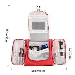 Sac de Toilette avec crochet de suspension, l'organiseur pour accessoires de voyage, composent Sac de cosmétiques, shampooing, cosmétiques, des articles personnels, Salle de bains avec la pendaison de stockage