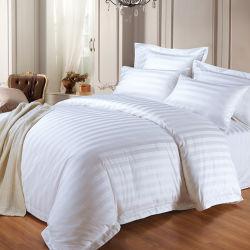 Оптовая торговля 250 количество потоков кровать размера куин-сайз в мастерской установить полосой 100% хлопок постельное белье