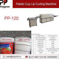 Taza de agua desechables de Curling labio/Máquina laminadora