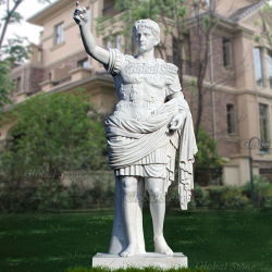 Tamanho da vida estátua de mármore de pedra para decoração de jardim (MSS-236)