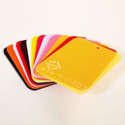 Fornecedor de anúncio de PMMA Personalizado Alta Corte brilhante folha de acrílico vermelho translúcido