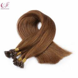 Высочайшее качество Sexy Lady оптовой гладкой Virgin человеческого волоса 100% Кератин волос Itip белка с плоским наконечником Pre-Bonded Extensions