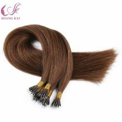 Federação de cabelo humano Cola Italiano Pre-Bonded Double sacadas Remy Virgem Anel Nano Extensão de cabelo