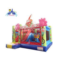 Palhaços insufláveis Castelo Combo deslize para a venda de brinquedos para crianças