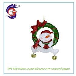 أبيض رجل ثلج عيد ميلاد المسيح منزل زخرفة معدن حرفة هبة