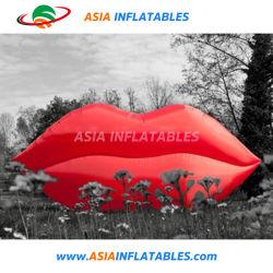 Kundenspezifisches neues Design LED-Licht Riesen Aufblasbarer Mund Modell, Aufblasbare Sexy Lip / Mund für Party