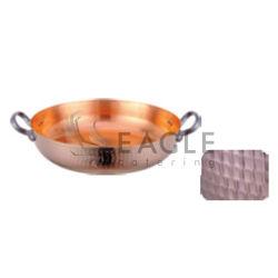 Tempura de cobre de acero inoxidable olla plato de paella
