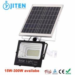 Illuminazione solare ricaricabile dell'inondazione di illuminazione esterna solare LED della lampada 100W con la batteria