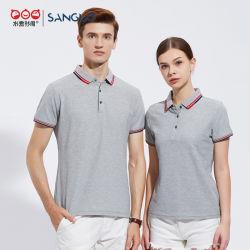 Baumwollnormale gestickte Sport-Polo-Hemd-Form-Freizeit 100%