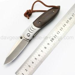 Edc-Serien 3.9 Zoll geschlossene Edelstahl-Fleck-Schaufel des Pocket Messer-420 und Holz-Griff für tägliches tragen und im Freien