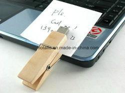 برنامج تشغيل القلم Flash Drive من Wooden Clip Flash Stick