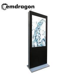Tela Vertical Wind-Cooled Desembarque máquina de publicidade exterior 55 polegada Media Player com barramento de rede OPS publicidade populares de TV Digital Photo Frame Stand