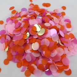 Personalizada multicolor papel tisú redonda Círculo biodegradables confeti