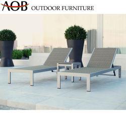 Современный открытый дворик Отель Home алюминиевых плетеной мебели Бич стул Sun шезлонге регулируемый для загара
