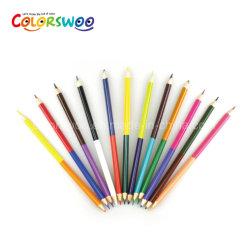 Les articles de papeterie 24 crayons de couleur, double Astuce Crayon, crayon de bois triangulaire