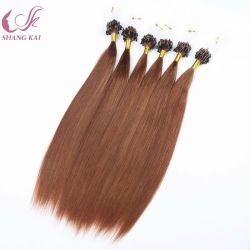 Anillo de bucles de fácil-X Remy Cabello Humano Micro Ring Hair Extension