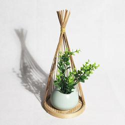 Hechos a mano personalizadas de flores Cesta ecológica Bamboo