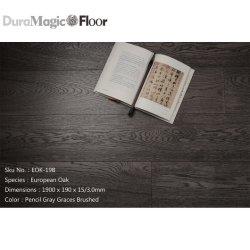 Pavimentazione a livello europeo grigia scura della quercia della migliore matita di prezzi della fabbrica della Cina