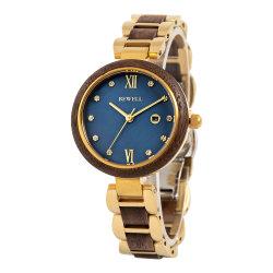 2021new Bewell OEM Holz Uhren Damen Edelstahl mit Holz Uhr für Frauen tragen Armbanduhr Schmuck wach Custom Watch Reloj