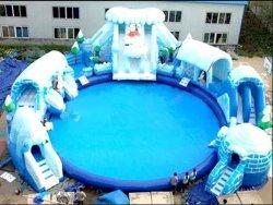 Juguete de agua de castillo inflable tobogán con Piscina