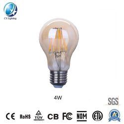 LED-gloeilamp voor atmosfeer A60 4W E27/B22 480 lm, gelijk aan 40W oranje met CE RoHS, EMC, LVD