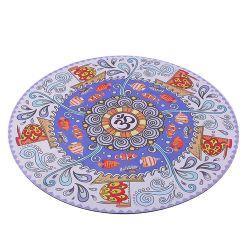Minneeの円形のスエードのゴム製黙想のヨガのマット