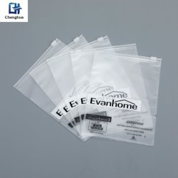 La poussière et étanche sac en plastique transparent à fermeture à glissière sac ziplock emballage pour les vêtements