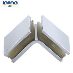 Commerce de gros carré en métal laiton bilatérales 90 Degré d'une douche en verre détenteur d'angle du connecteur du matériel en verre pour sauna