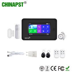 Wireless WiFi de alta calidad/SMS/GSM/soporte LCD Cámara IP de la alarma de Casa Inteligente (PST-WG106)