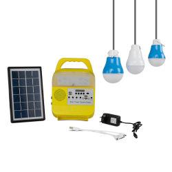 نظام الإضاءة المنزلية بالطاقة الشمسية المحمولة نظام الإضاءة المنزلية في السيارات المشي لمسافات طويلة مع ضوء المصدر