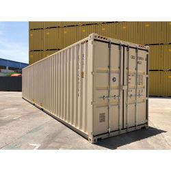 Hysun Shipping Container New Steel 40 HQ Sea Cargo Portable 이중 도어 컨테이너 전면 도어 최종 ISO 배송 컨테이너 열기