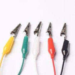 Terminación doble pinza de color de cinco puntas de prueba de bricolaje eléctrico