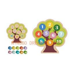 Tellende Boom, Peuter het Leren van het Speelgoed van het Raadsel van het Aantal Houten Speelgoed, het Spel Kindergarte van de Lijst