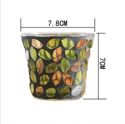 VSS يدوي الصنع من Mosaic TeaLight الزجاج حامل شمعة للمنزل الديكور