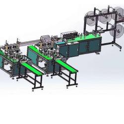 Descartáveis automática de fábrica 3 Ply Máquina de máscara de Face Plana