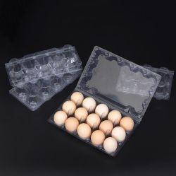Stapelbarer aufbereiteter Haustier-Maschinenhälften-Ei-Tellersegment-Großhandelsplastik