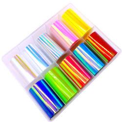 빛나는 손톱 스티커 DIY 미녀 포일에 사용하는 이물거미입니다 스티커 네일 아트